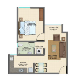 1BHK GROUND FLOOR TYPE 1