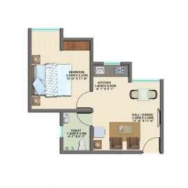 1BHK REG GROUND FLOOR TYPE 5