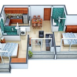 2 BHK TF TYPE 4