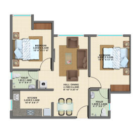 2BHK GROUND FLOOR TYPE 3