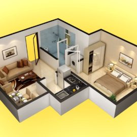 TYPE 3 : UNIT CARPET AREA (Isometric View) | VBHC Greendew