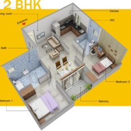 Greenfields 2BHK ISO
