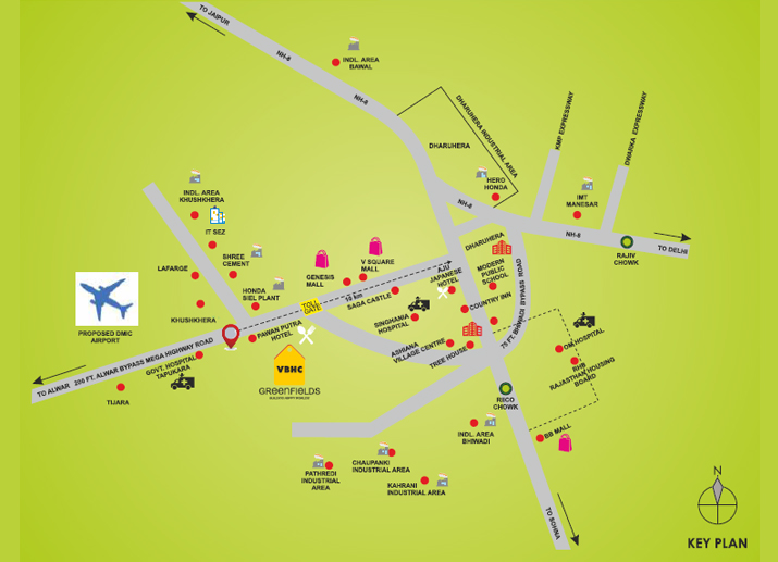 Greenfields location-map