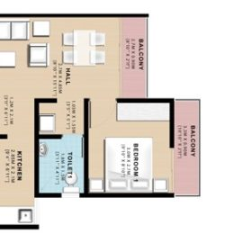 1 BHK UNIT PLAN | VBHC Hillview