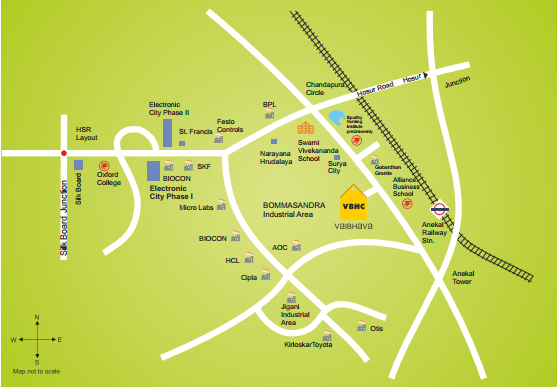 Vaibhava Location Map