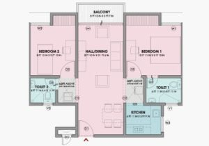 2 BHK REGULAR - Floor Plan